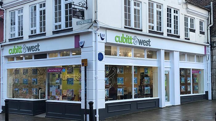 Image of the estate agents Cubit & West shopfront