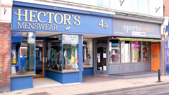 Image of Hectors Menswear and Sports Locker in Chapel Street Petersfield